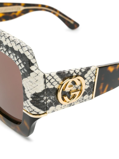 Gucci Eyewear oversized square-frame sunglasses in brown