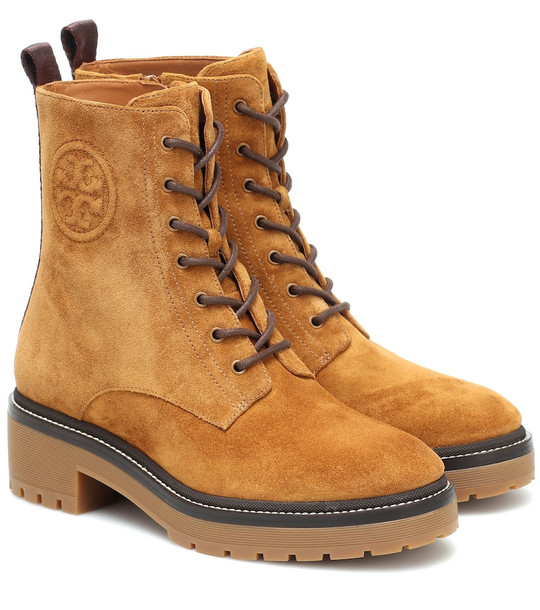 Tory Burch Miller suede ankle boots in brown
