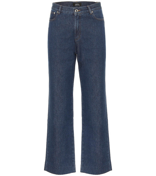 A.P.C. Sailor high-rise straight jeans in blue