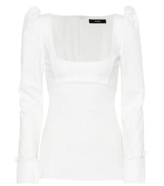 Ellery Expolio Puff Sleeve top in white