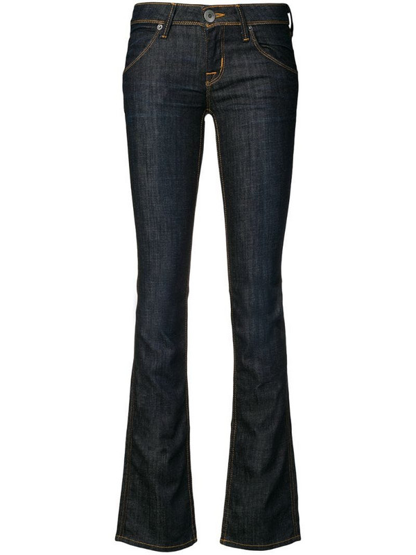 Hudson low rise slim fit jeans in blue