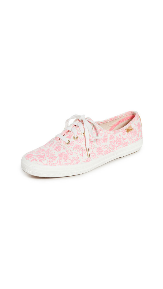 Keds x Rifle Paper Co Champion Moxie Floral Sneakers in pink