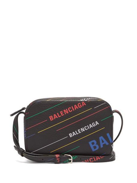 Balenciaga - Everyday Xs Leather Cross Body Bag - Womens - Black Multi