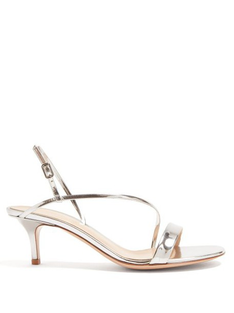 Gianvito Rossi - Manhattan 55 Metallic Leather Sandals - Womens - Silver