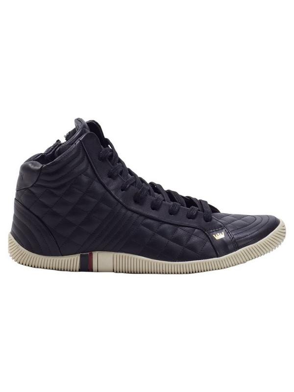 Osklen quilted hi-top sneakers in black