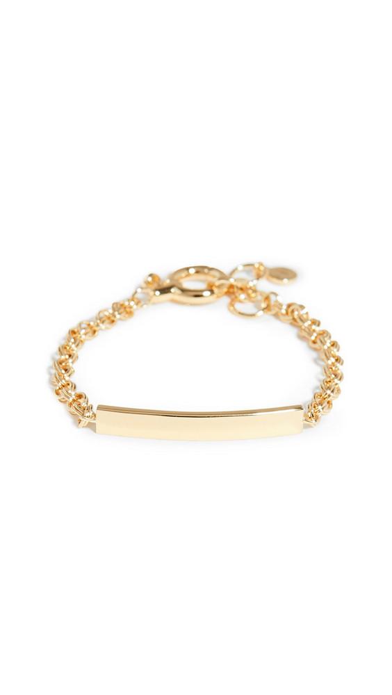 Gorjana Lou Tag Bracelet in gold