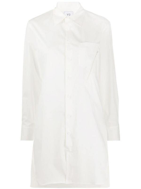 Y-3 Yohji Yamamoto longline shirt in white