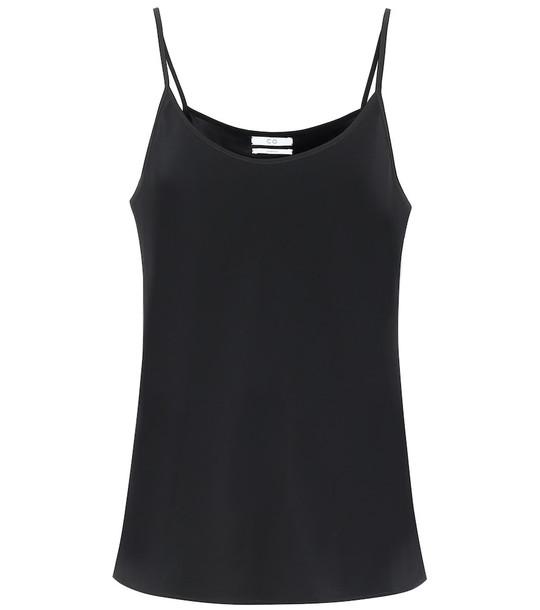 Co Stretch-crêpe camisole in black