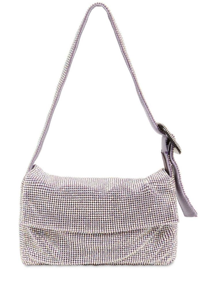 BENEDETTA BRUZZICHES La Vitty La Mignon Crystal Mesh Bag in lilac