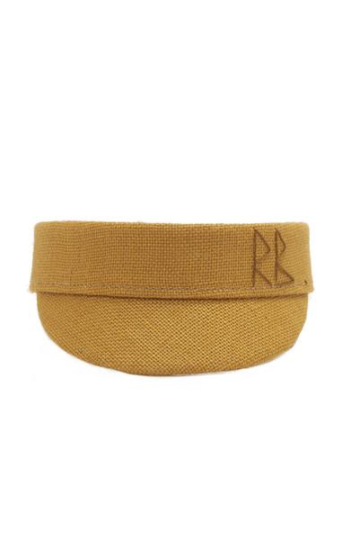 Ruslan Baginskiy Hats Jute Visor Size: S in yellow