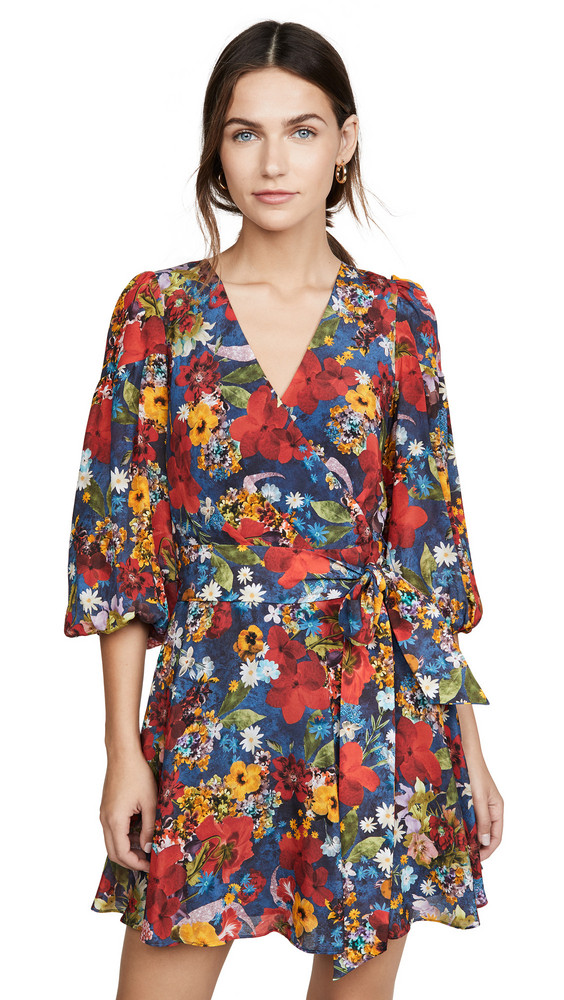 alice + olivia alice + olivia Kerri Bishop Sleeve Wrap Dress