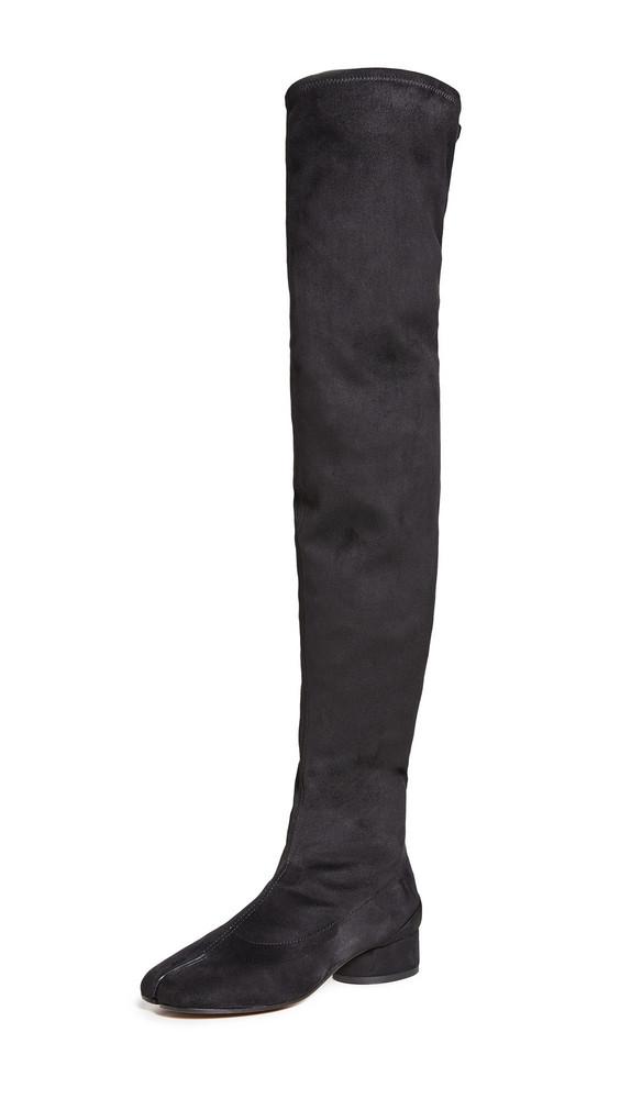 Maison Margiela Thigh High Tabi Boots in black