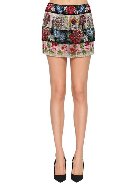 DOLCE & GABBANA Embellished Mini Skirt W/ Beads