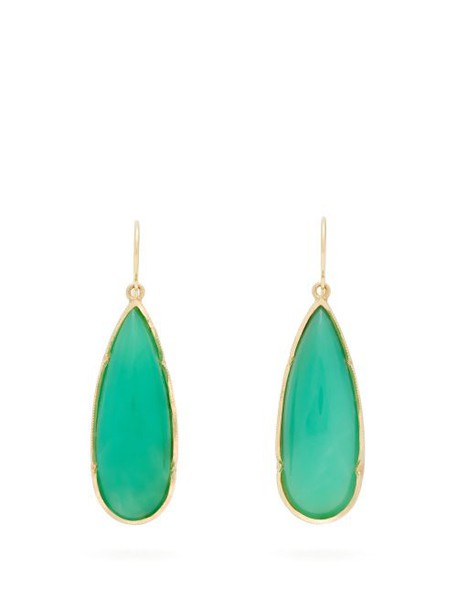 Irene Neuwirth - Chrysoprase & 18kt Gold Drop Earrings - Womens - Green