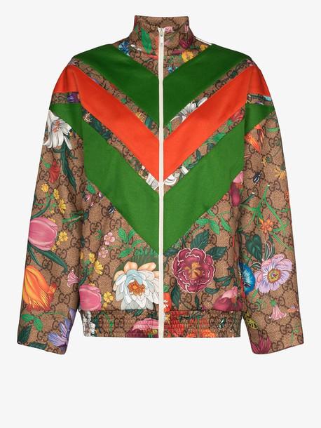 Gucci GG Flora print track jacket