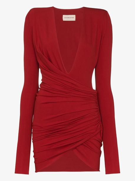 Alexandre Vauthier draped mini dress in red