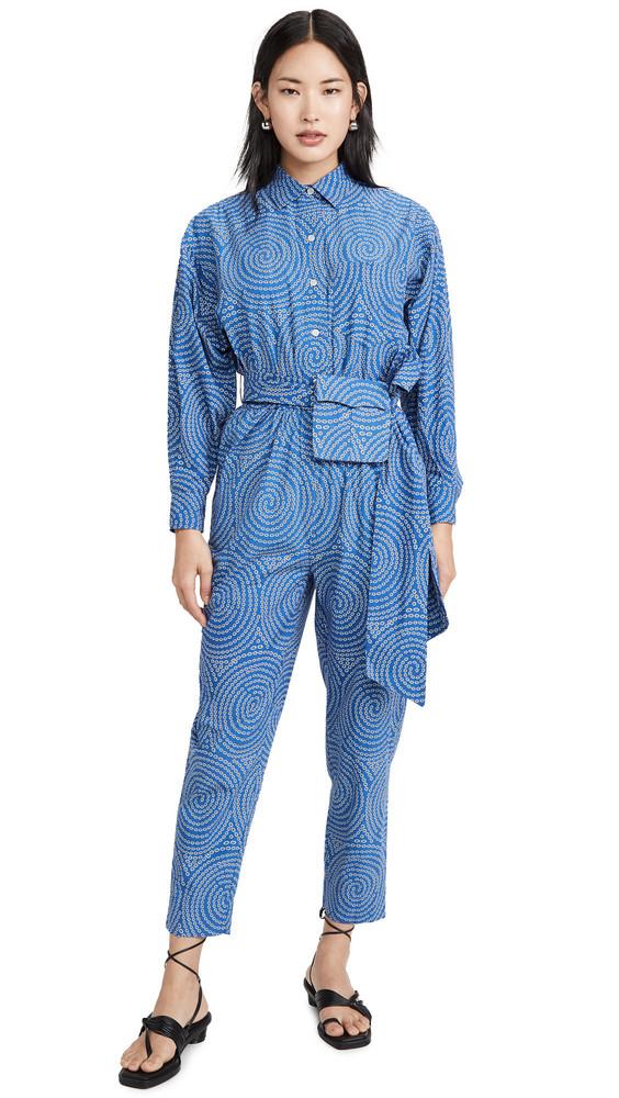 Rhode June Jumpsuit in blue