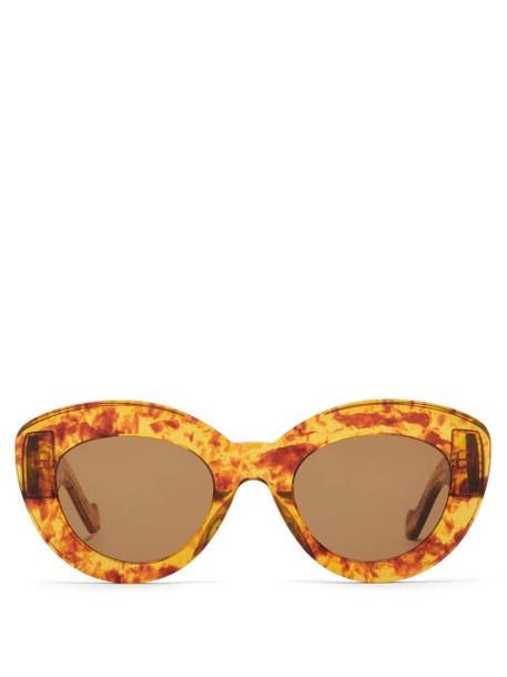 Loewe - Cat Eye Tortoiseshell Acetate Sunglasses - Womens - Tortoiseshell
