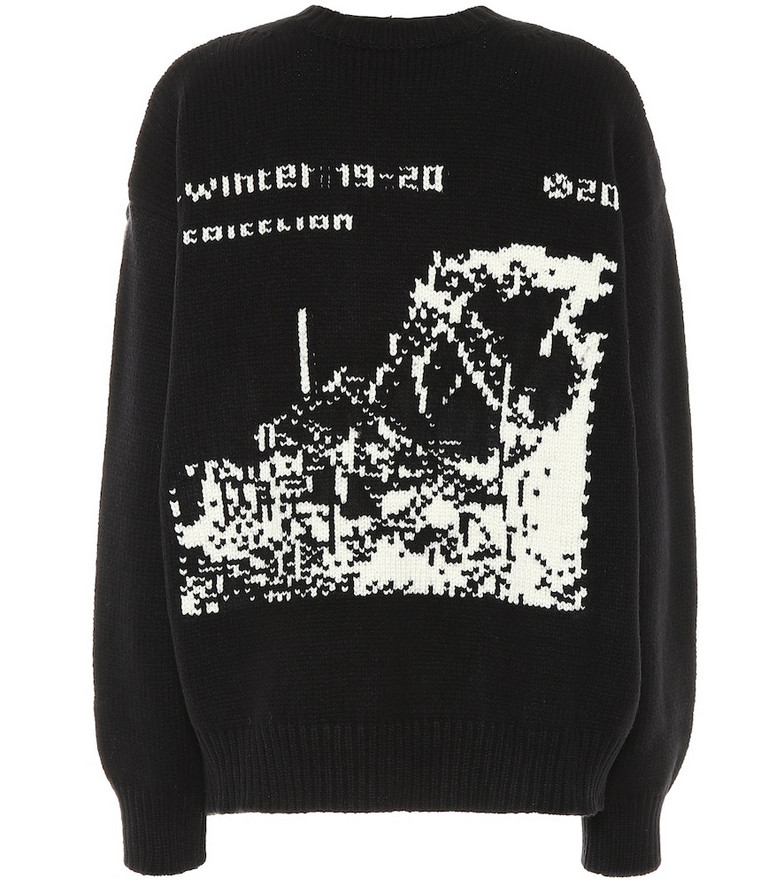 Off-White Oversized wool sweater in black