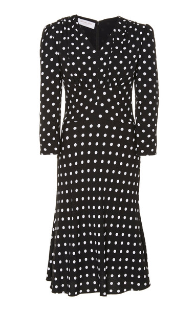 Michael Kors Collection Polka-Dot Crepe Dress in multi