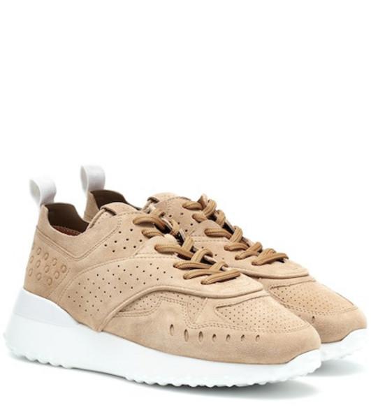 Tod's Suede sneakers in beige / beige