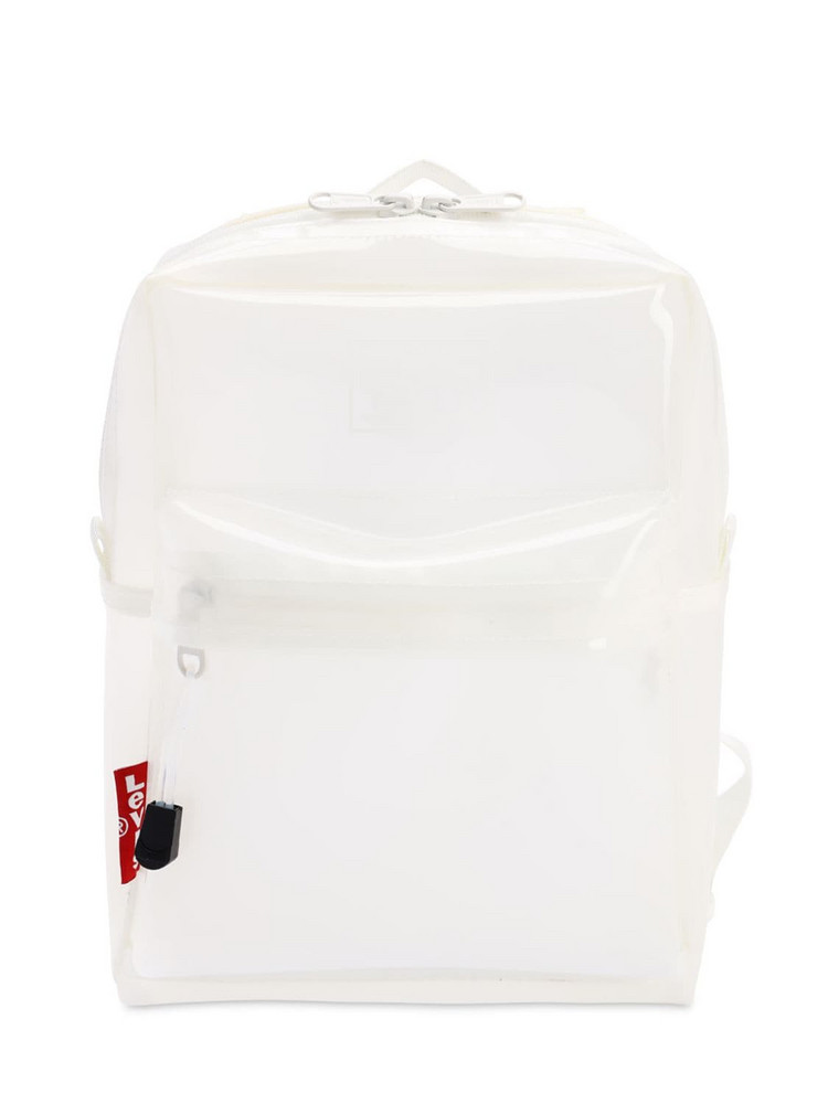 LEVI'S RED TAB The Levi's L Pack Baby Clear Backpack in white
