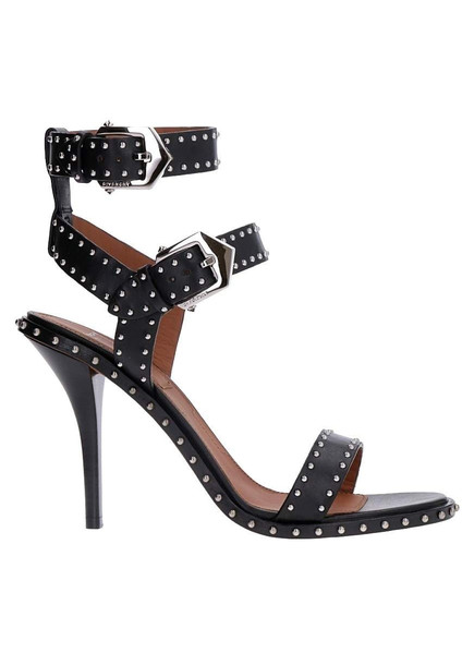Givenchy Studded Leather Sandals in black