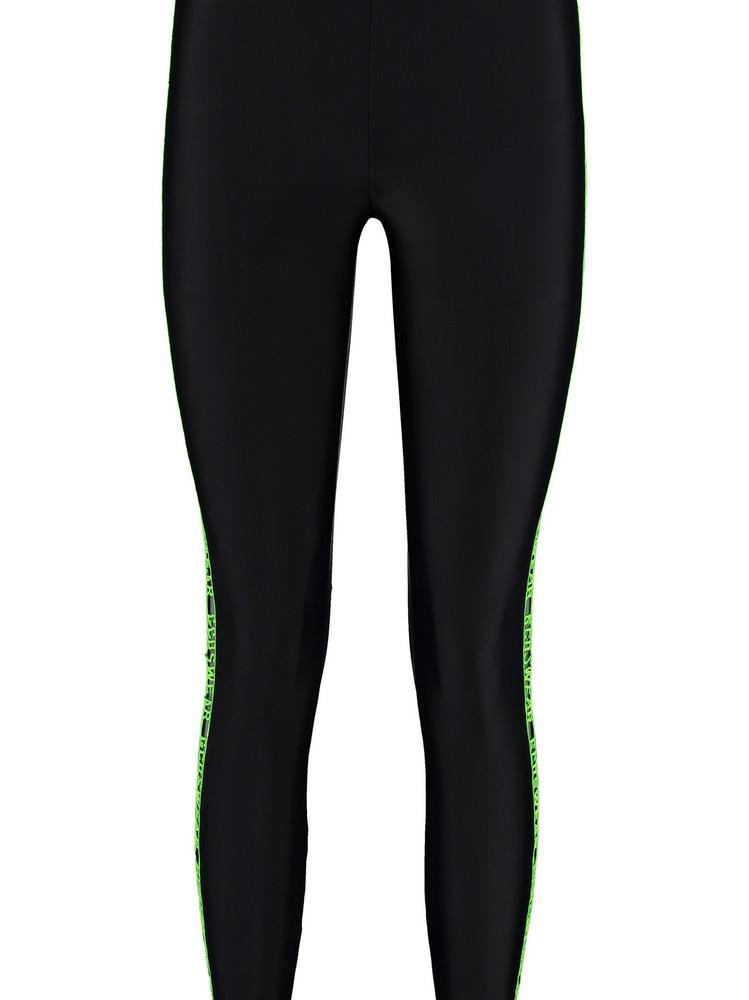 GCDS Technical Fabric Leggings in black