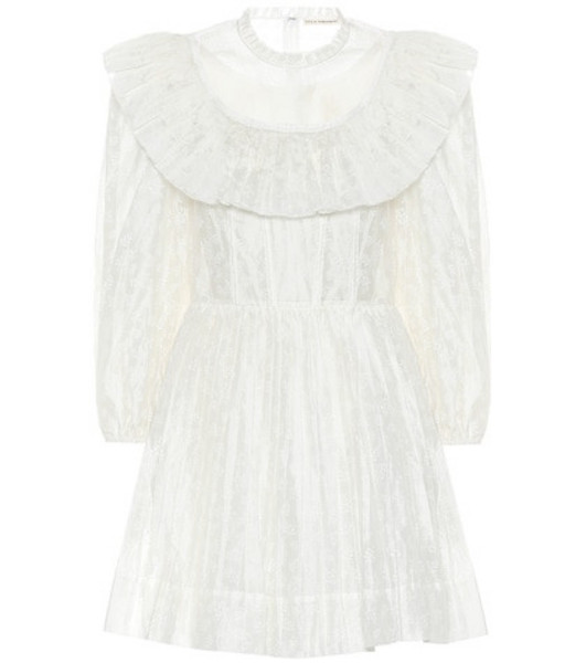Ulla Johnson Whitely cotton and silk minidress in white
