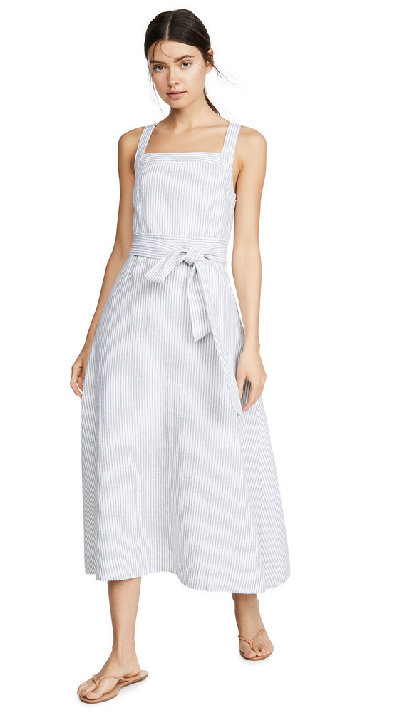 AYR The Porch Dress in black / white
