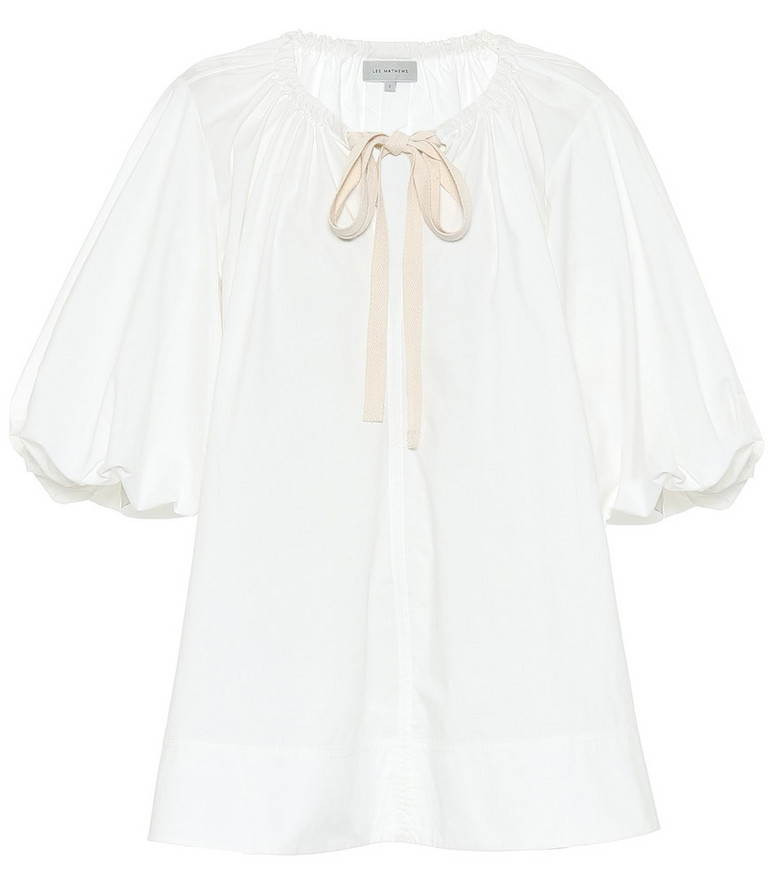 Lee Mathews Exclusive to Mytheresa – Cotton top in white
