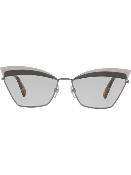 Valentino Eyewear tinted cat-eye sunglasses in metallic