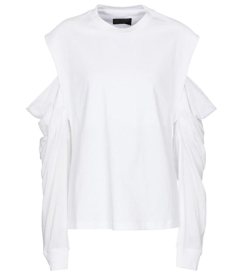 RtA Capucine cutout cotton top in white