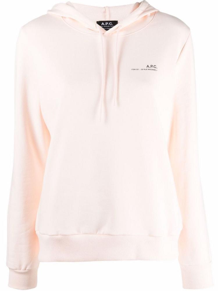 A.P.C. A.P.C. logo-print cotton hoodie - Pink