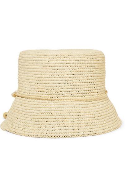 Sensi Studio Kids - Embellished Toquilla Straw Hat - Beige
