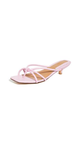 JAGGAR Loop Kitten Heel Sandals in pink / lilac