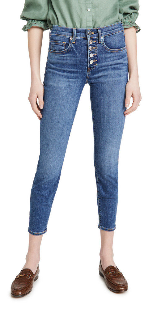 Veronica Beard Jean Debbie High Rise Skinny Jeans in stone
