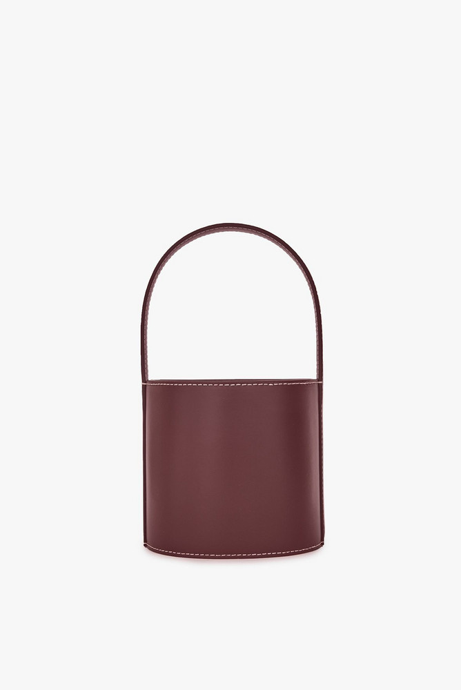 Staud MINI BISSETT BAG | BORDEAUX