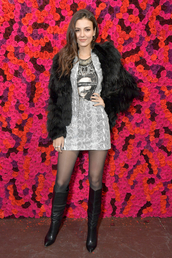 skirt,animal print,python,mini skirt,victoria justice,celebrity,jacket,fashion week