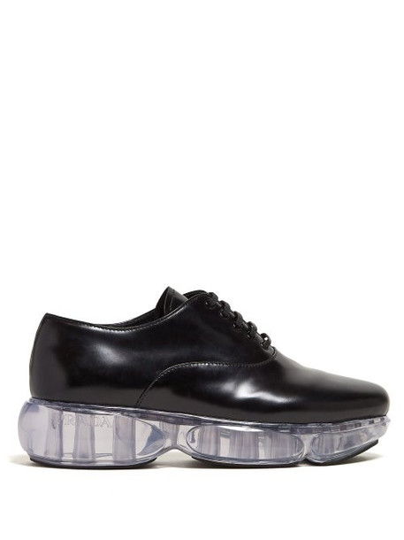 Prada - Cloudbust Sole Leather Oxford Shoes - Womens - Black