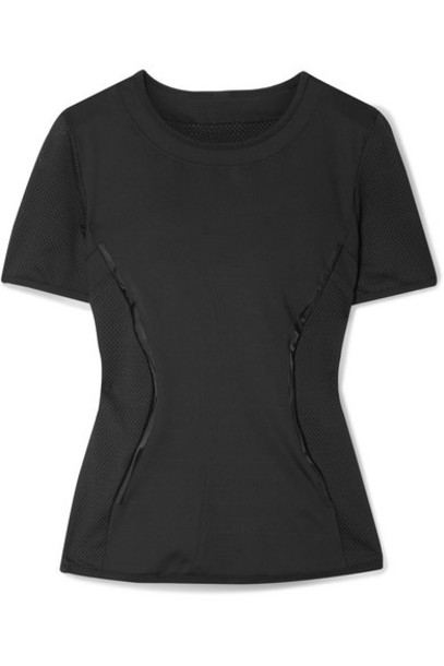 adidas by Stella McCartney - Essentials Mesh-paneled Climalite T-shirt - Black