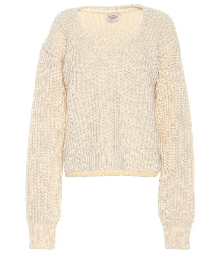 Tod's Wool and cashmere sweater in beige