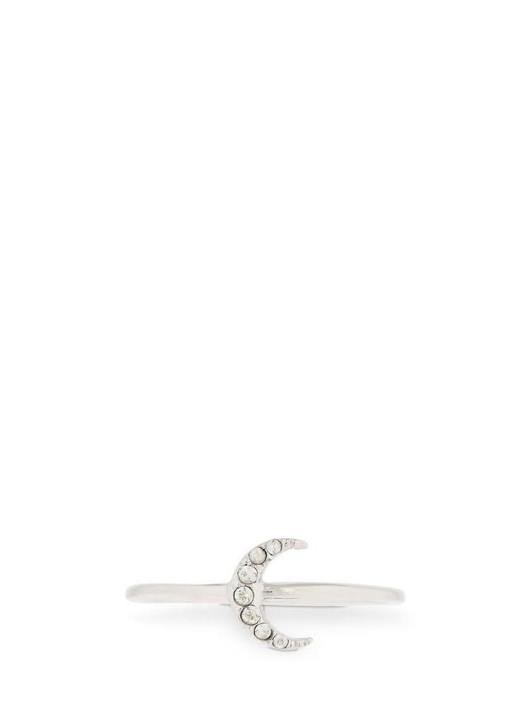 ISABEL MARANT Slim Full Moon Crystal Ring in silver
