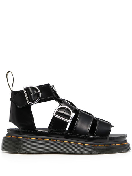 Dr. Martens cut-out leather sandals in black