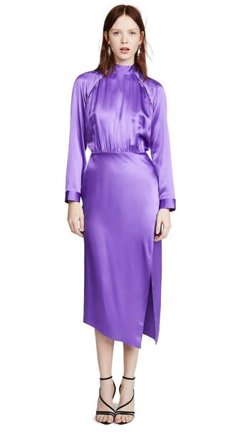 Michelle Mason Raglan Dress with Crystal Trim