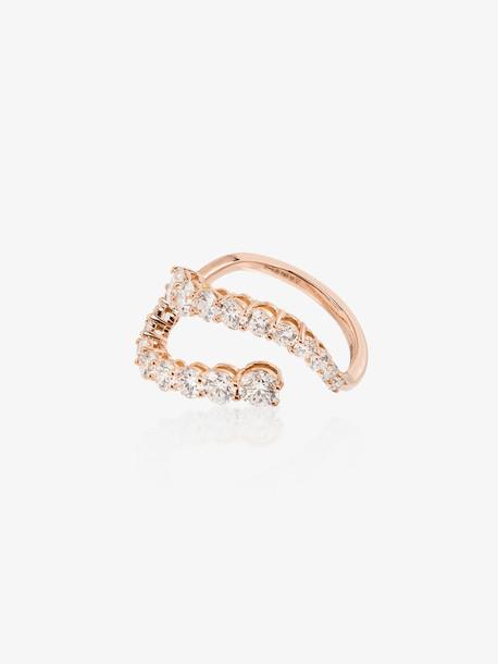 Melissa Kaye 18K rose gold Aria Skye diamond ring