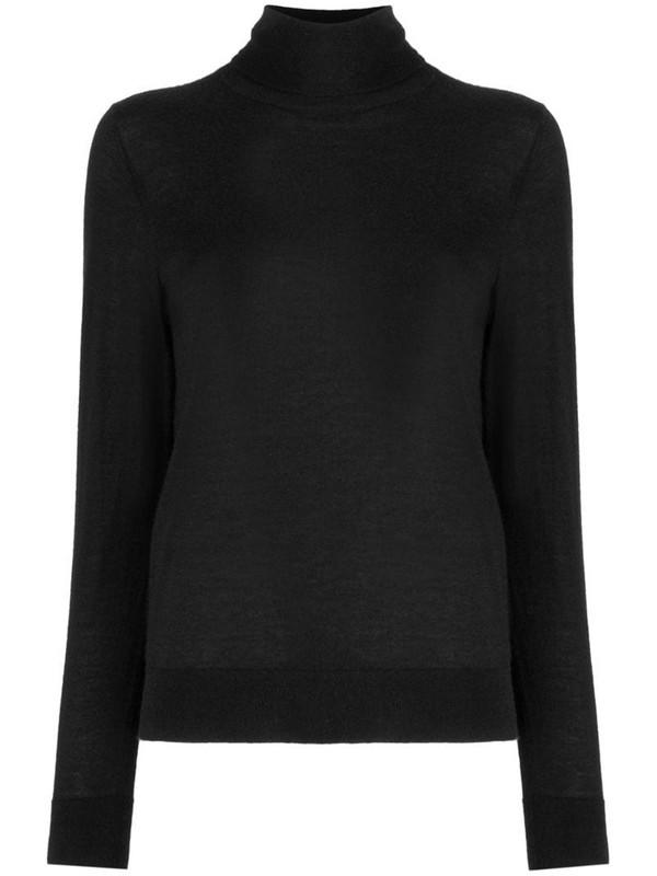 N.Peal roll neck jumper in black