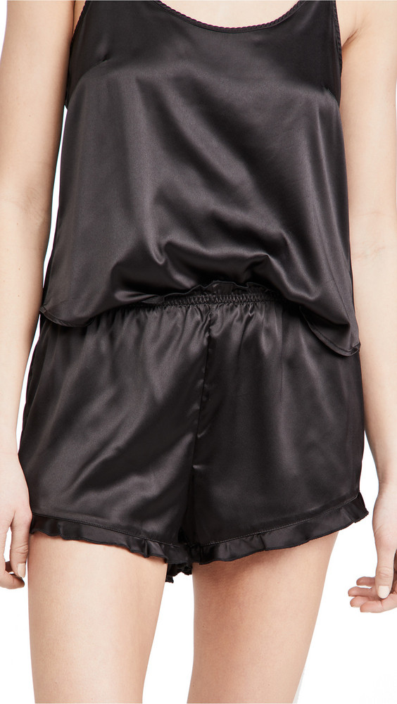 Z Supply Date Night Satin Shorts in black