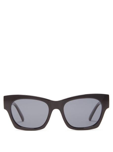 Le Specs - Rocky Square Acetate Sunglasses - Womens - Black