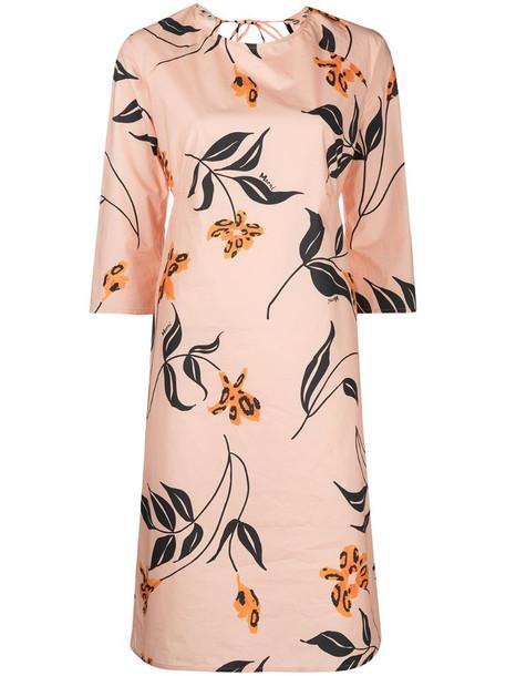 Marni floral-print shift dress in pink